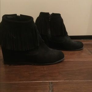 80 % 20 hides hidden wedge suede moccasins